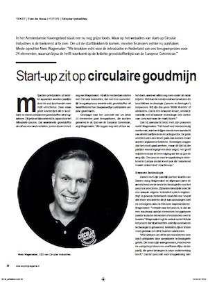 Co-Founder Niels Wagemaker van Circular Industries